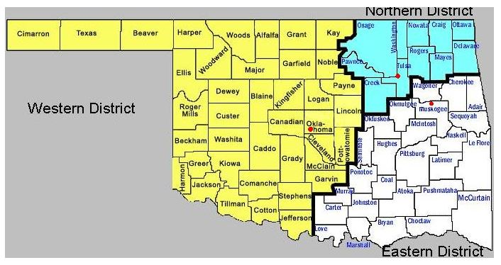 Oklahoma bankruptcy court districts by county